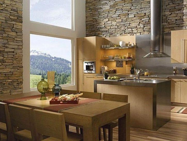 Kamień elewacyjny w kuchni