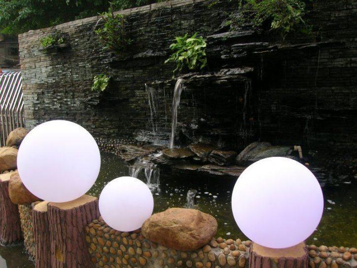 Lampa ogrodowa kula