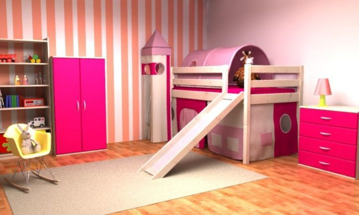 Łóżka ze zjeżdżalnią