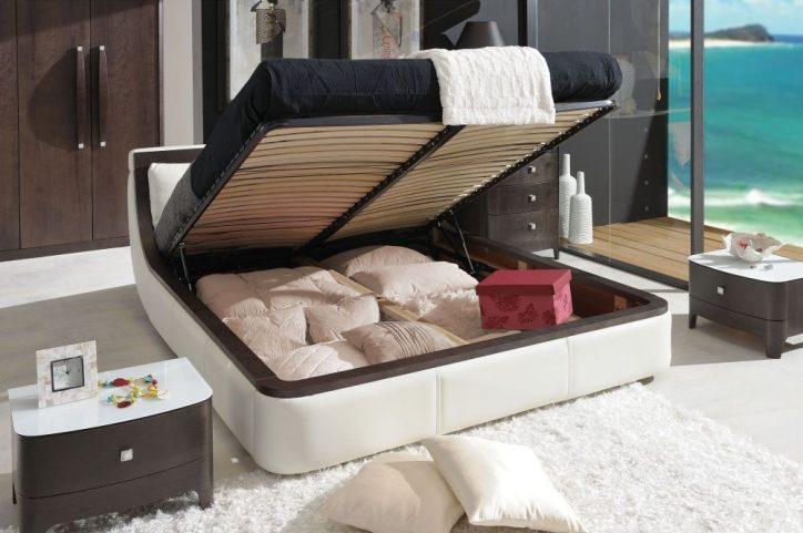 łóżko Z Pojemnikiem Na Pościel łóżka Do Sypialni Z