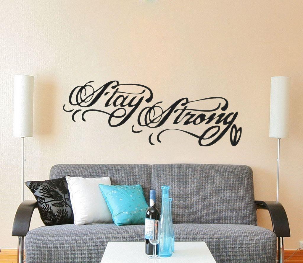 Naklejki na ścianę napisy