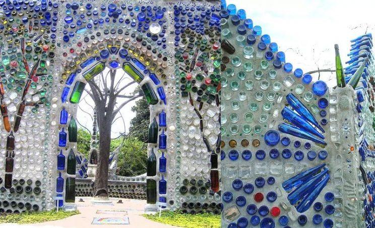 mur z butelek