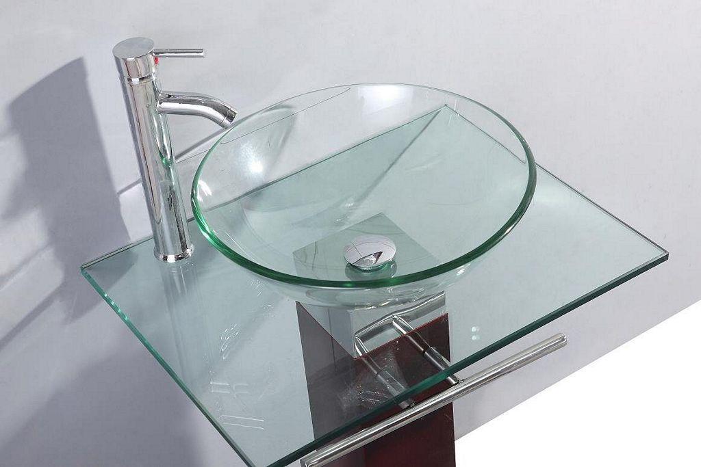 Umywalki szklane