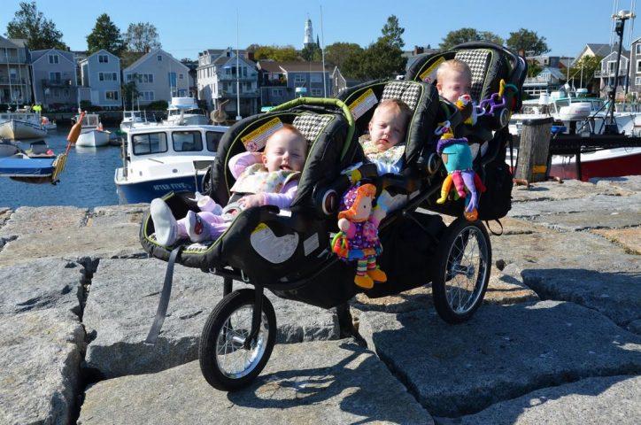 Wózek dla trojaczków